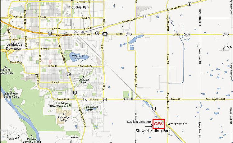 Map Contact Connors Fleet Service Lethbridge Alberta